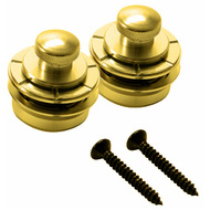 Hennessey Solid Brass Strap Locks in Gold (1-Pair)