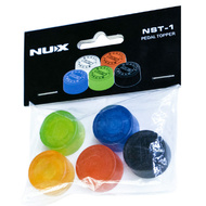 NU-X Pedal Topper Footswitch Caps Assorted Colours - Pk 5