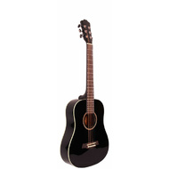 Odessa Travel Acoustic Guitar in Black Gloss Finish