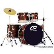 Opus Percussion 5-Piece Fusion Drum Kit in Wine Red