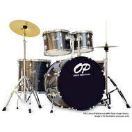 Opus Percussion 6-Piece Rock Drum Kit in Grey Slate