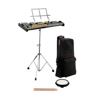 Opus Percussion Bell Kit with 32-Note Glockenspiel, Stand, Mallets, Sticks, Practice Pad & Carrybag