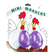 Opus Percussion Chicken Egg Mini Maracas in Asst Colours (1-Pair)