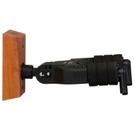 On Stage Straight Facing Locking Wall-Mount Guitar Hanger with Wood Base