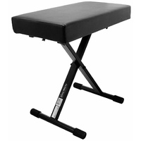"On Stage Deluxe Folding Keyboard Bench with 2.5"" Extra Thick Padding"