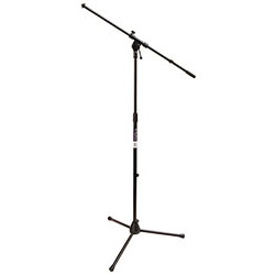 "On Stage Boom Mic Stand with 30"" Euro Boom in Black"