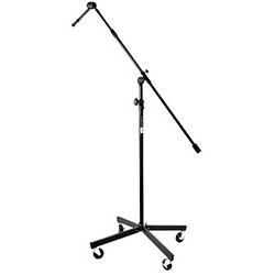 "On Stage Studio Boom with 7"" Mini Boom Extension and Casters"