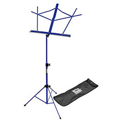On Stage Compact Sheet Music Stand in Blue with Bag