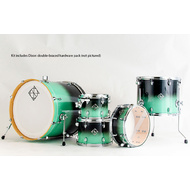 Dixon Fuse Maple 522 Series 5-Pce Drum Kit in Green Ice Fade Gloss