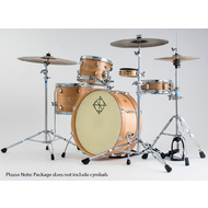 Dixon Little Roomer Series 5-Pce Drum Kit in Satin Natural Lacquer Finish
