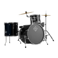 Dixon Spark Series 4-Pce Drum Kit with Cymbals in Misty Black Sparkle