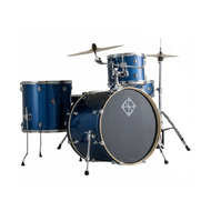 Dixon Spark Series 4-Pce Drum Kit with Cymbals in Ocean Blue Sparkle