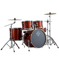 Dixon Spark Series 5-Pce Drum Kit with Cymbals in Champagne Sparkle
