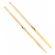 Percussion Plus Hickory Wood with Wood Tip 5A Drum Sticks