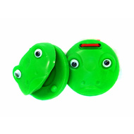 Percussion Plus Plastic Castanets in Green Frog Design (1-Pair)
