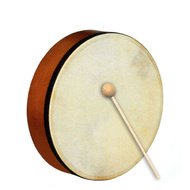 "Percussion Plus 8"" Handheld Frame Drum with Wooden Beater"