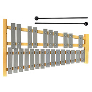 Percussion Plus 25-Note Glockenspiel with Natural Wood Frame
