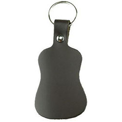 Perris Leather Guitar Shape Key Ring in Black