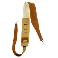 "Perris 2.5"" Natural Suede Banjo Strap with Metal Hooks"