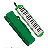 QM Musical 37-Key Melodica in Green with Bag