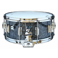 Rogers Dyna-Sonic Beavertail Series Snare Drum in Black Diamond Pearl - 14 x 6.5""
