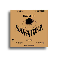 Savarez 520PI Traditional High Tension with Wound E, B & G Classical Guitar String Set