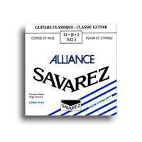 Savarez 542J Alliance HT Classic High Tension (B-2nd) Single Classical Guitar String