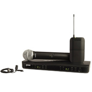 Shure BLX1288/CVL Dual Channel Combo Wireless System - PG58 Handheld & CVL Lavalier