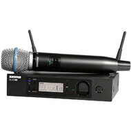 Shure GLXD24R/BETA87A Digital Handheld 1/2 Rack Wireless System - BETA87A Handheld