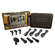Shure PGASTUDIOKIT4 Studio Microphone Kit with Adapters, Cables & Carry Case