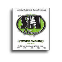 SIT Power Wound 5-String Medium Nickel Electric Bass String Set (50-130)