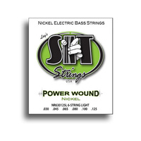 SIT Power Wound 6-String Light Nickel Electric Bass String Set (30-125)
