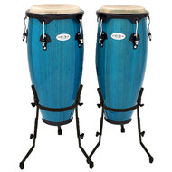 "Toca 10 & 11"" Synergy Series Wooden Conga Set in Bahama Blue"