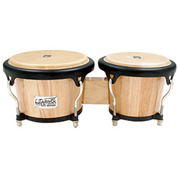 "Toca 7 & 8-1/2"" Players Series Wooden Bongos in Natural"