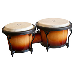 "Toca 7 & 8-1/2"" Players Series Wooden Bongos in Sunburst"