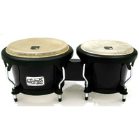 "Toca 7 & 8-1/2"" Players Series Fiberglass Bongos in Black"