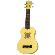 Kealoha Wooden Coloured Series Soprano Ukulele with Bag in Yellow Finish