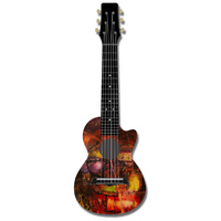 Kealoha Guitalele in Technicolour Paint Design with Black ABS Resin Body