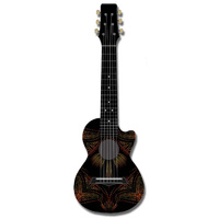 Kealoha Guitalele in Tribal Dot Paint Design with Black ABS Resin Body