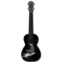 "Kealoha ""Eclipse Flare"" Design Concert Ukulele with Black ABS Resin Body"