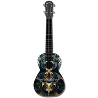 "Kealoha ""Ancient Realm"" Design Concert Ukulele with Black ABS Resin Body"