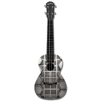 "Kealoha ""Checkerplate"" Design Concert Ukulele with Black ABS Resin Body"
