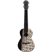 "Kealoha ""Reptile Skin"" Design Concert Ukulele with Black ABS Resin Body"