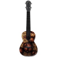 "Kealoha ""Eyeball Carpet"" Design Concert Ukulele with Black ABS Resin Body"