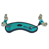 Wolf Forte Secondo Coloured Shoulder Rest for Violin in Green Emerald (1/4 - 1/2)