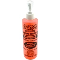 Sterisol Germicide Spray Bottle with Fine Mist Sprayer 8oz