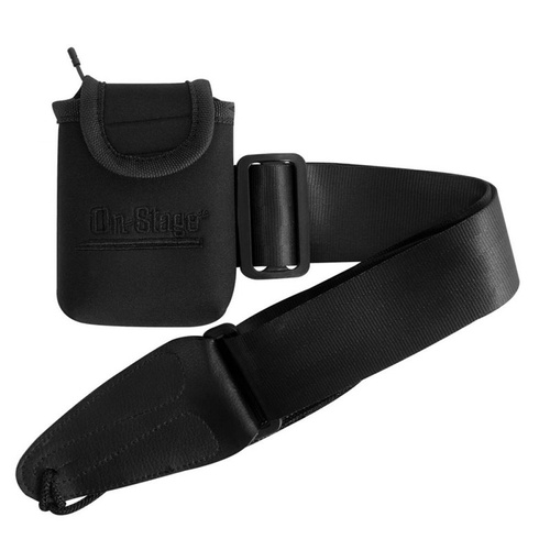 On Stage Wireless Transmitter Pouch with Guitar Strap